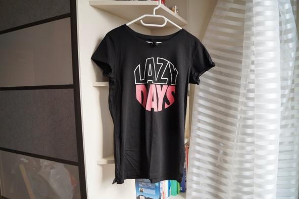 Czarna koszulka Sinsay M