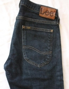 ciemne spodnie jeansowe lee...