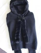 czarna bluza sweterek s...