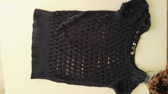 Sweterek granatowy ażurkowy C&A rozmiar 38