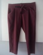 eleganckie burgundowe spodnie...