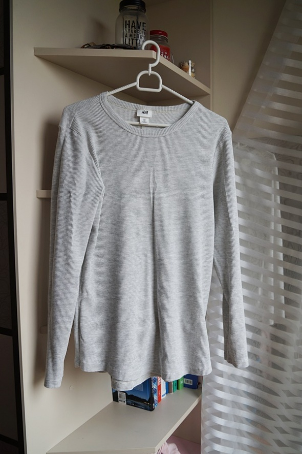 Szara prążkowana bluzeczka H&M S...