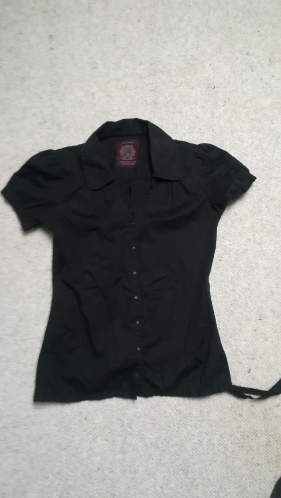 Bluzki Czarna bluzka