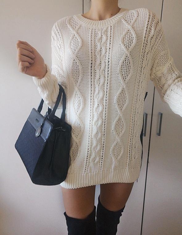 Top Secret Sweter damski zip ecru 38 M
