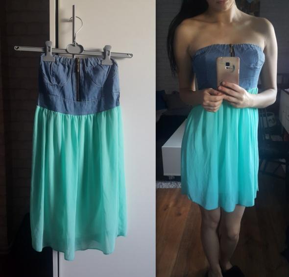 sukiena z jeansem
