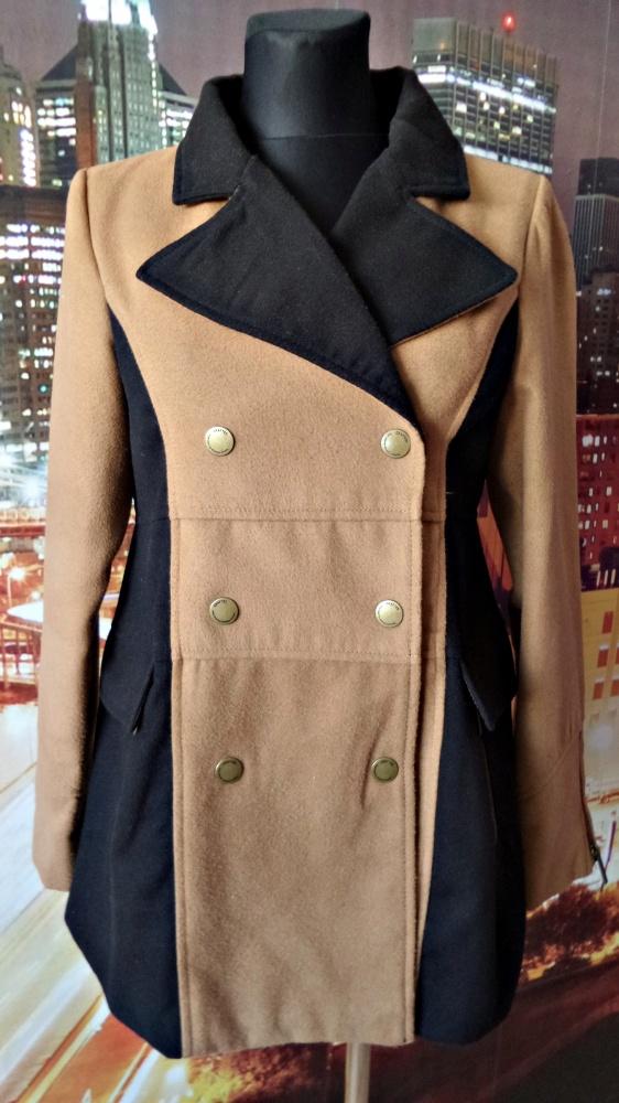 crafted płaszcz dwurzędowy wyszczuplający 40