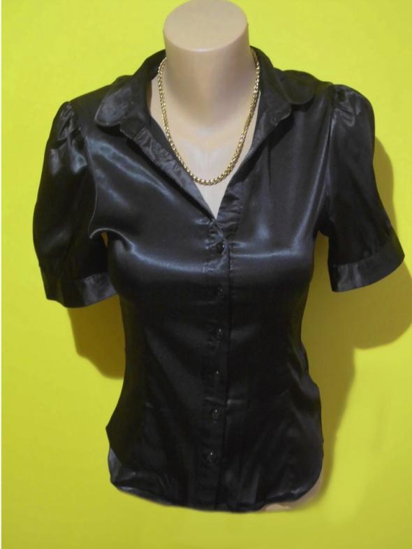 koszula satynowa czarna