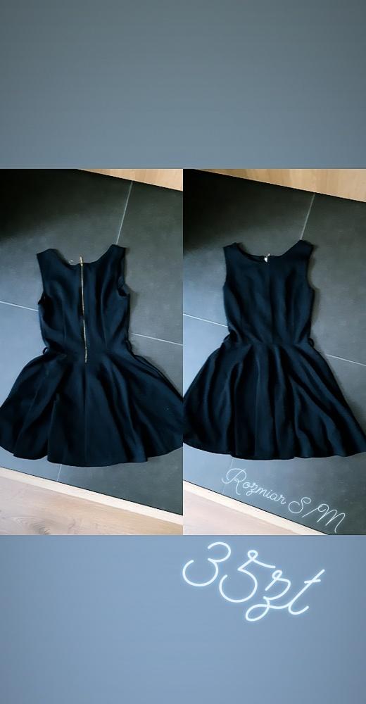 Suknie i sukienki Czarna sukienka że złotym zamkiem