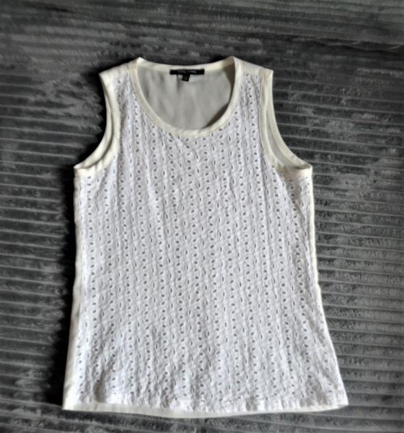Biała bluzeczka bez rękawów S