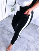 Spodnie dresowe rurki z lampasem rozmiar SM...
