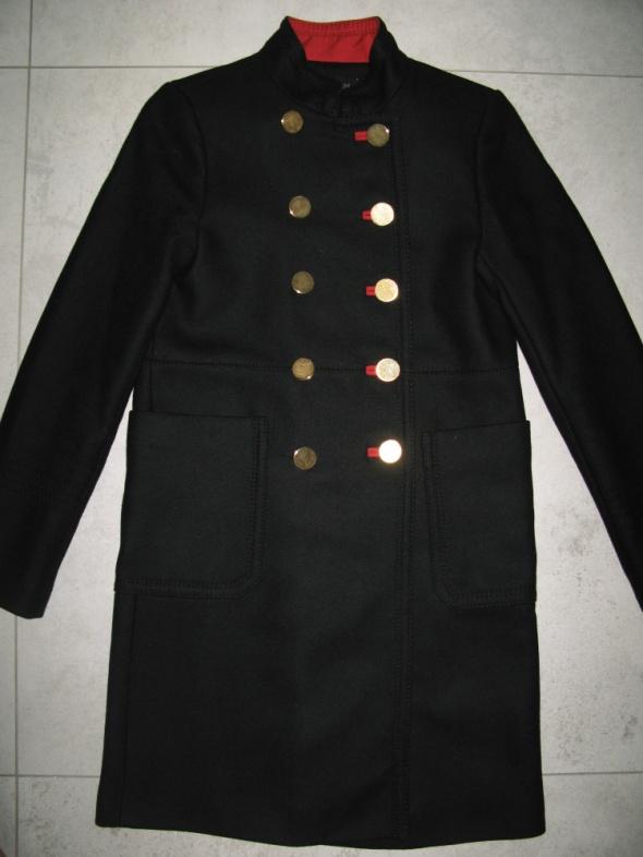 Odzież wierzchnia ZARA czarny płaszcz damski dwurzędówka roz 34