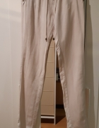Lniane spodnie Bershka rozm XS w dobrym stanie...