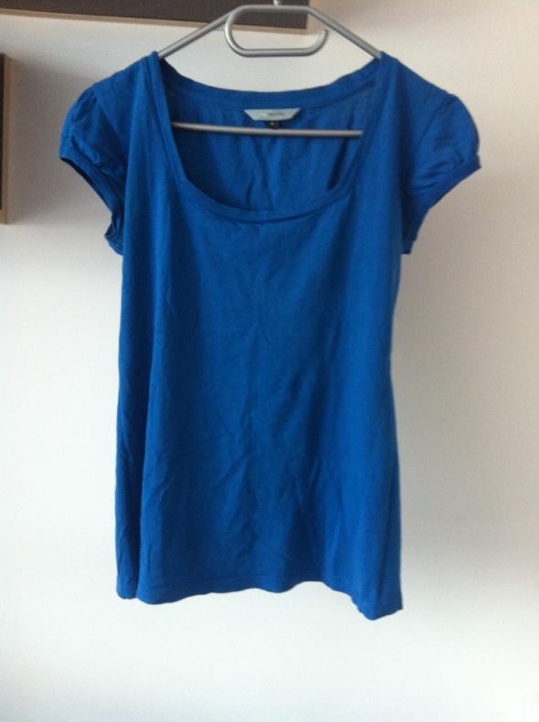 Klasyczna niebiezka bluzka krótki rękaw tshirt 10