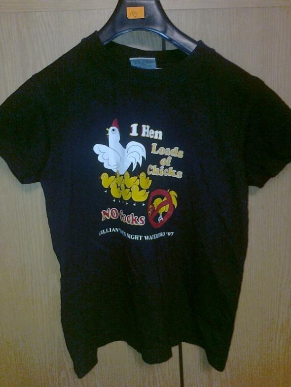 zabawna koszulka nadrukiem kury