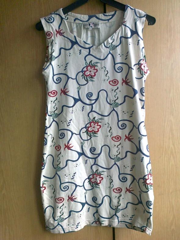 sukienka tunika w ciekawe wzory