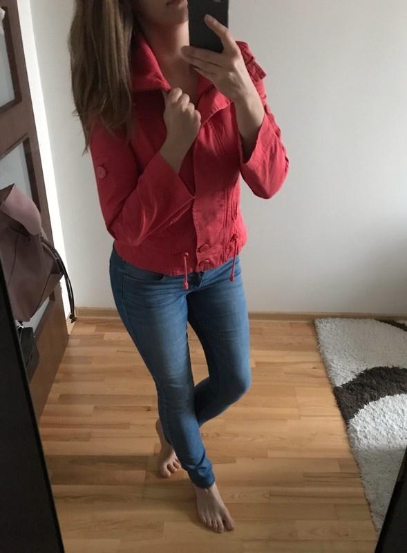 Forever 21 bluza katana czerwona rozpinana S
