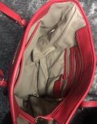 Czerwona torebka modny wzór MK stan bardzo dobry...