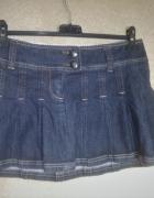 Jeansowa plisowana mini spódnica 38...
