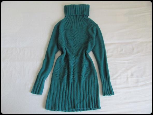 Terranova gruba i ciepła sukienka z golfem 38 M...
