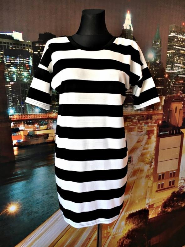 vero moda sukienka luźny fason paski zip casual hit 38 M...