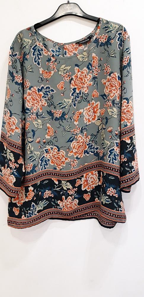 bluzka w kwiaty Pacocks 46