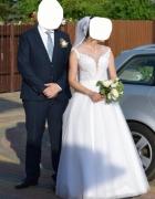 Śliczna suknia ślubna w stylu księżniczka...