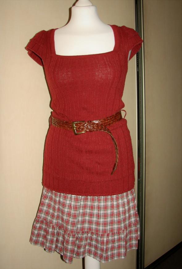 Suknie i sukienki sukienka dzianinowa bezrękawnik