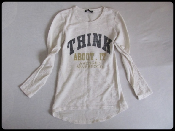 Tunika bluzka asymetryczna z napisem 38 M