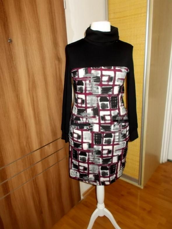 sukienka z golfem na suwak 44 46