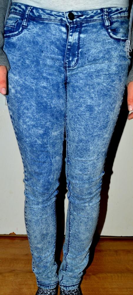Spodnie Nowe marmurkowe rurki super skinny 38
