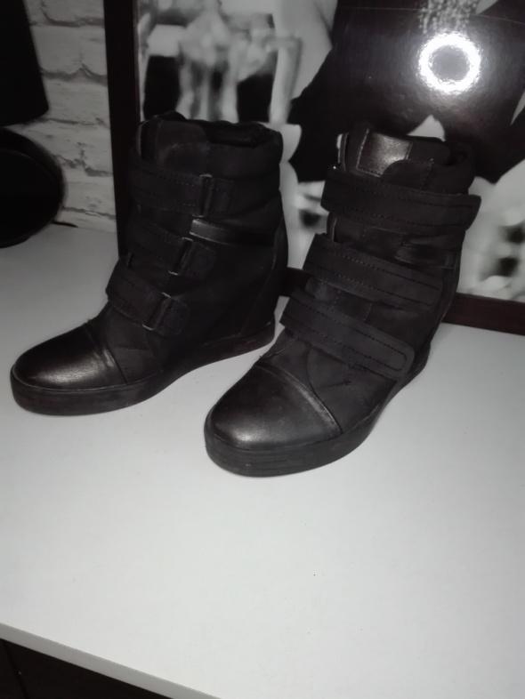 Czarne sneakersy 38