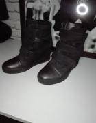 Czarne sneakersy 38...