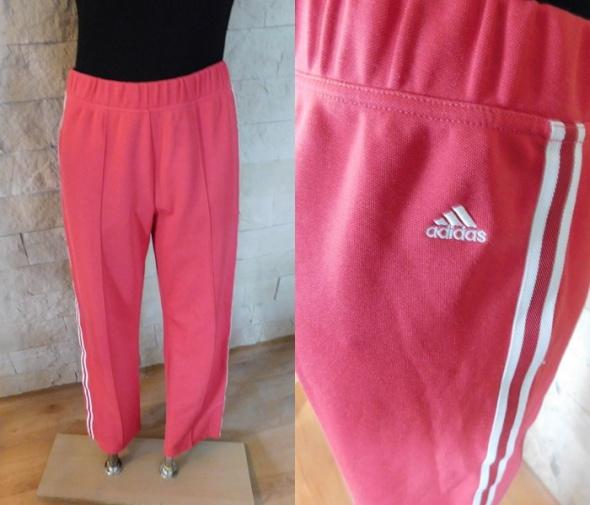 Spodnie Adidas różowe LXL 40 42 sportowe