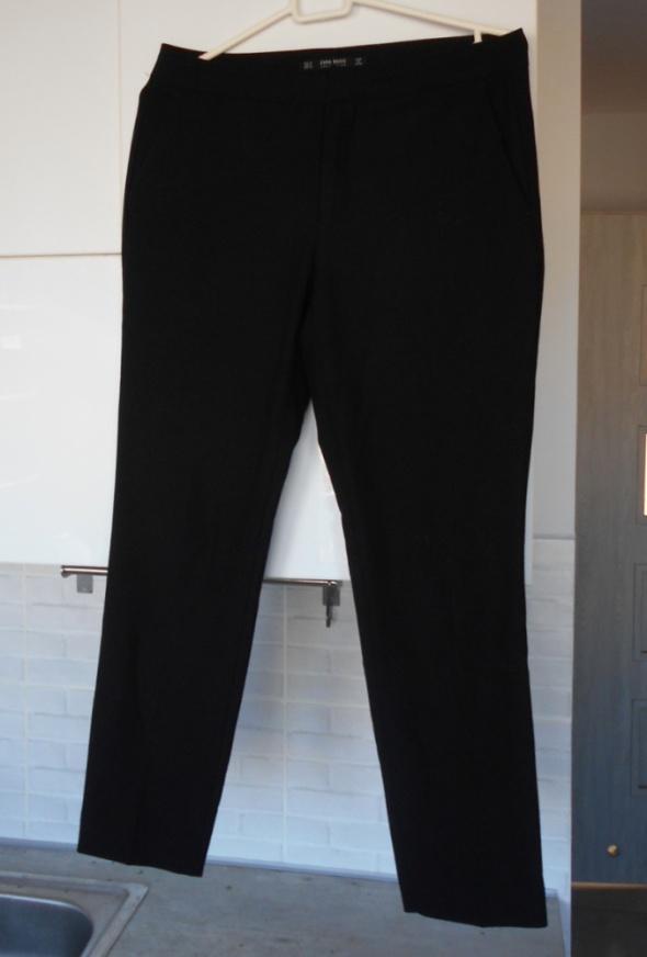 Zara czarne cygaretki spodnie klasyka minimalizm