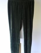 Legginsy Zielone Welurowe Gill M 40 42 Welur Spodnie Rurki...
