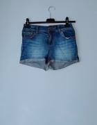 Krótkie spodenki z jeansu...
