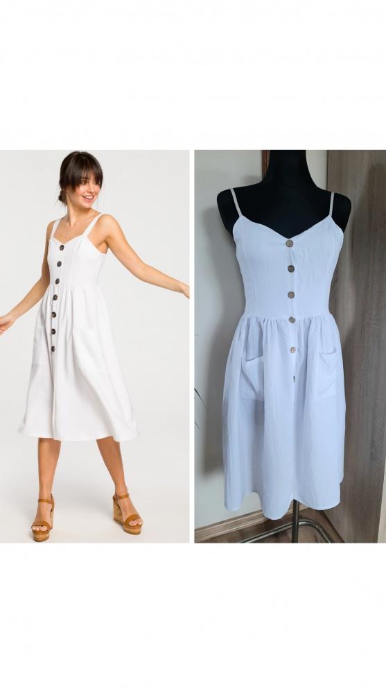 Suknie i sukienki Sukienka z drewnianymi guzikami