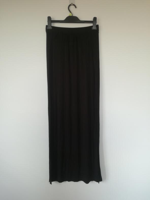 Modna spódnica maxi czarna S M