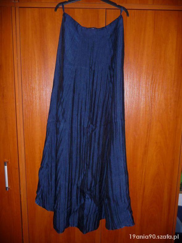 Granatowa długa spódnica
