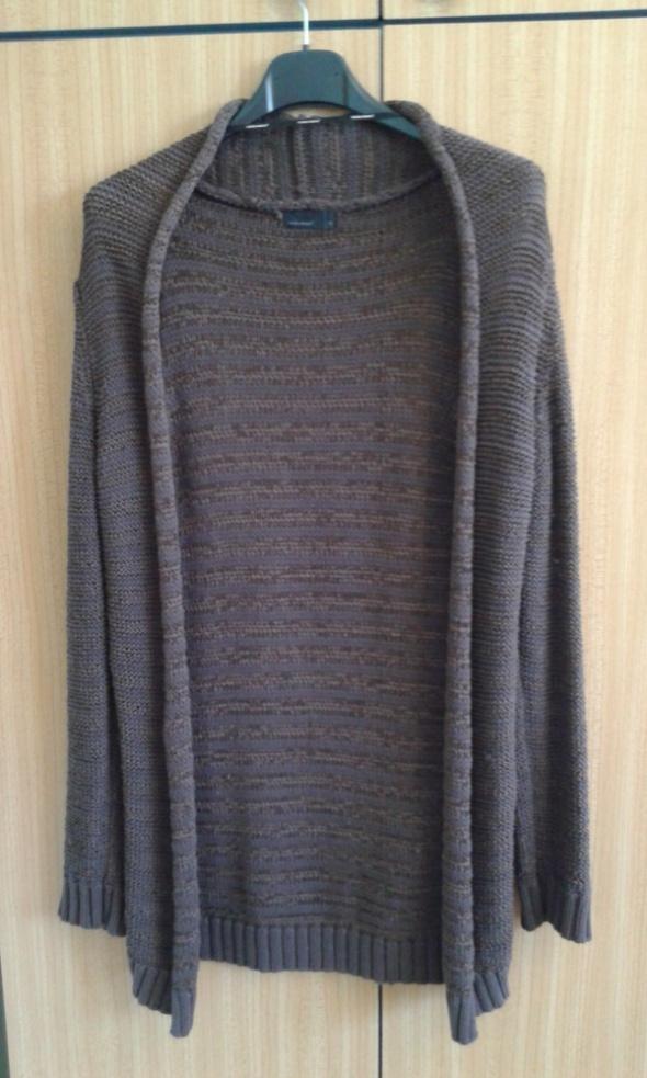 Swetry Długi brązowy sweter Vero Moda XS 34
