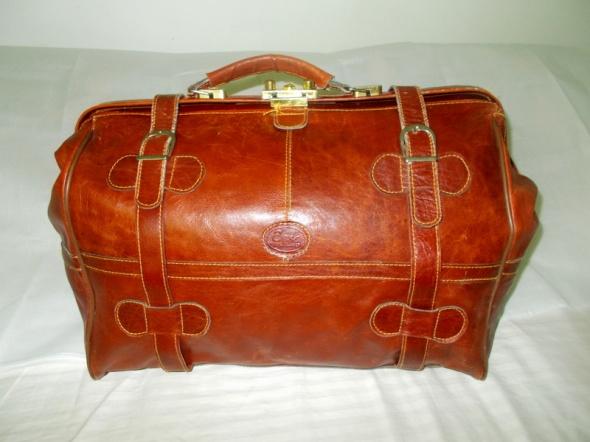 torba podróżna kufer skóra naturalna kasztan