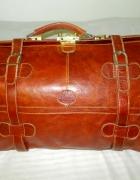 torba podróżna kufer skóra naturalna kasztan...
