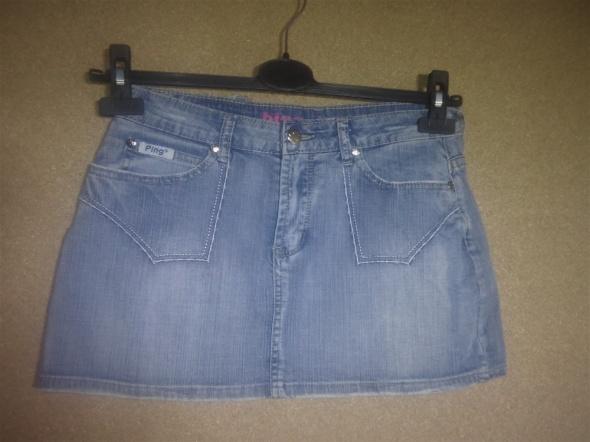Jasno niebieska jeansowa mini spódnica 36 38