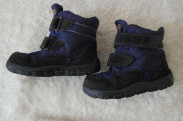 Ciepłe zimowe buty granat czarny 24