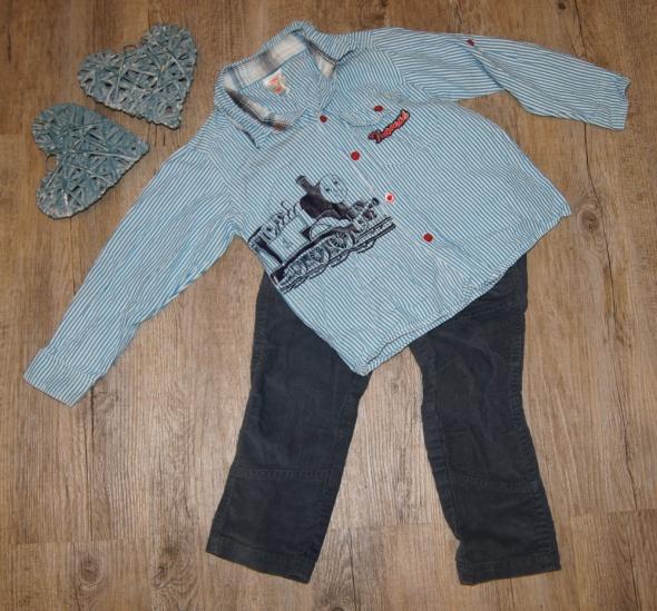 Zestaw chłopiec koszula spodnie Tomek i przyjaciele rozm 98