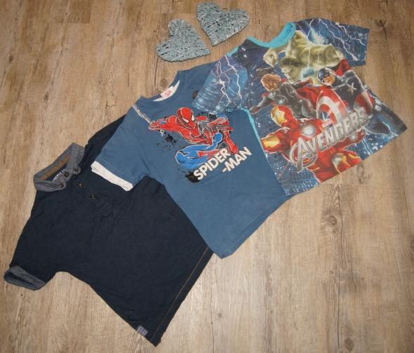 Zestaw chłopiec koszulki Avengers Spiderman rozm 116