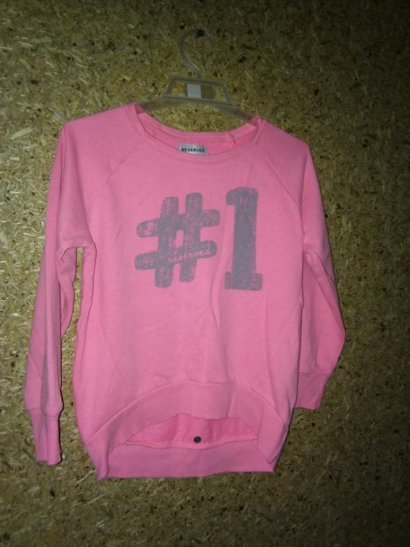 Reserved Różowa asymetryczna bluza 122 cm 6 7 lat