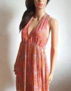 Zwiewna plisowana sukienka r M...