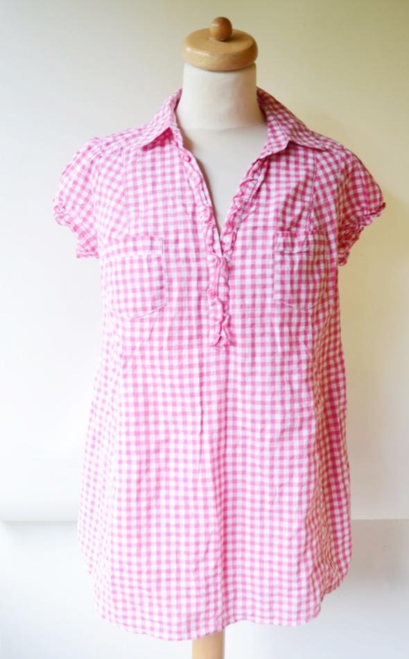 Bluzka Ciążowa H&M Mama Kratka Szachownica M 38