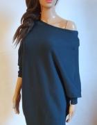 Dzianinowa sukienka nietoperz r M...